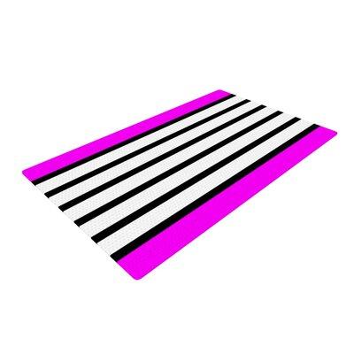 Trebam Sest Redaka Magenta/White Area Rug Rug Size: 4 x 6