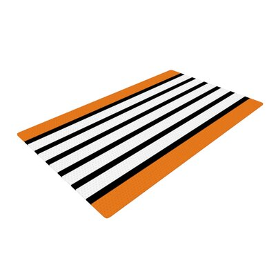 Trebam Sest Redaka Tangerine Orange Area Rug Rug Size: 4 x 6