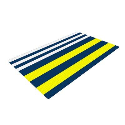 Trebam Nauticki Yellow/Navy Area Rug Rug Size: 2 x 3