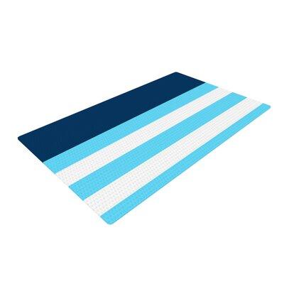 Trebam Nauticki Aqua/Blue Area Rug Rug Size: 4 x 6