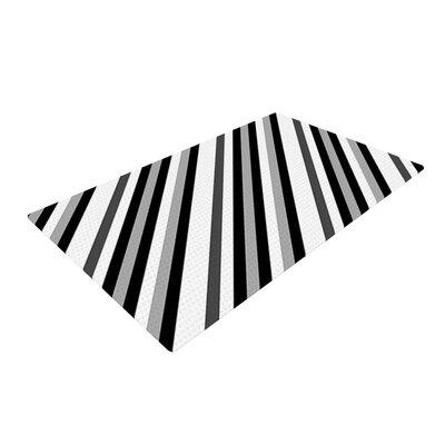 Trebam Kos Diagonal Gray Area Rug Rug Size: 4 x 6