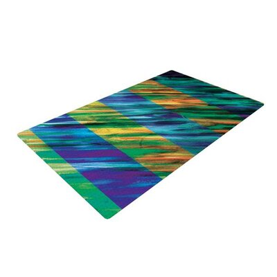 Theresa Giolzetti Stripes II Blue/Green Area Rug