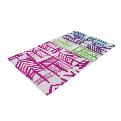 Theresa Giolzetti Quiver III Pink/Green Area Rug