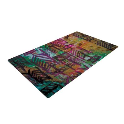 Theresa Giolzetti Quiver IV Black/Orange Area Rug