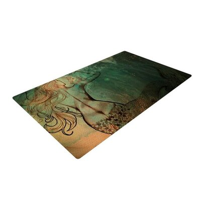 Theresa Giolzetti Poor Mermaid Brown/Green Area Rug