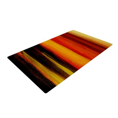Theresa Giolzetti Firework Yellow/Orange Area Rug Rug Size: 2 x 3