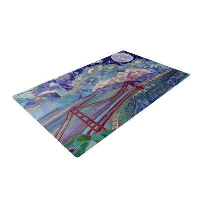 Theresa Giolzetti San Fran Blue/Green Area Rug Rug Size: 4 x 6