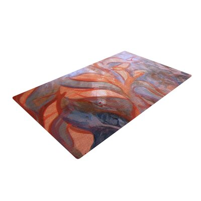 Theresa Giolzetti Seaweed Orange/Blue Area Rug Rug Size: 2 x 3