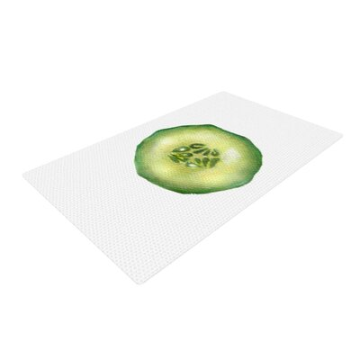 Theresa Giolzetti Cucumber Green/White Area Rug Rug Size: 2 x 3