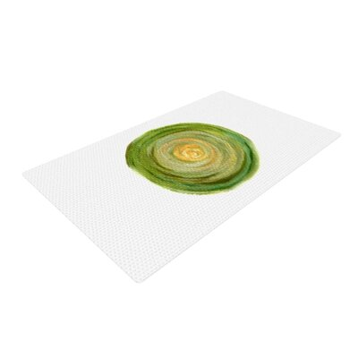 Theresa Giolzetti Leeks Green/White Area Rug Rug Size: 2 x 3