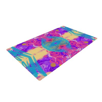 Vasare Nar Glitch Kaleidoscope Pink/Purple Area Rug Rug Size: 2 x 3