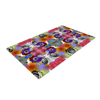 Vasare Nar Tropical Flowers Pink/Purple Area Rug Rug Size: 2 x 3