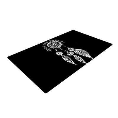 Vasare Nar Catch Your Dreams Typography White/Black Area Rug Rug Size: 4 x 6