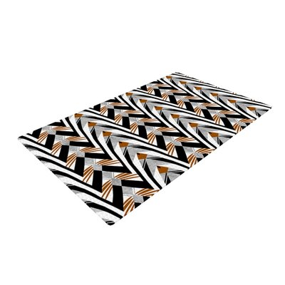 Vikki Salmela Wings Orange/Gray Area Rug Rug Size: 4 x 6