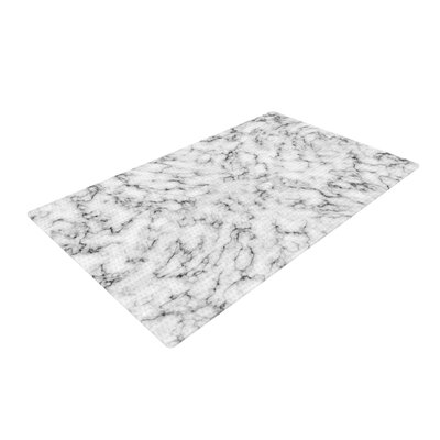 Will Wild Marble White/Gray Area Rug Rug Size: 4 x 6