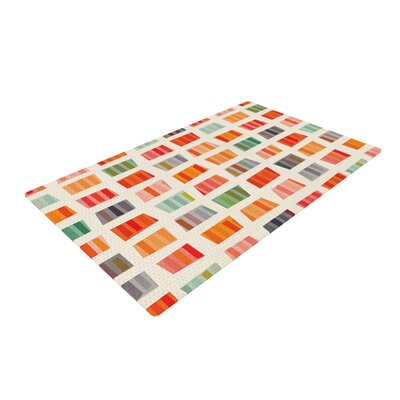 Daisy Beatrice Beach Towels Red/Orange Area Rug Rug Size: 4 x 6