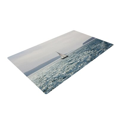 Jillian Audrey Sail the Sparking Seas Blue/Gray  Area Rug Rug Size: 4 x 6