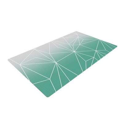 Mareike Boehmer Simplicity Teal/White Area Rug Rug Size: 4 x 6
