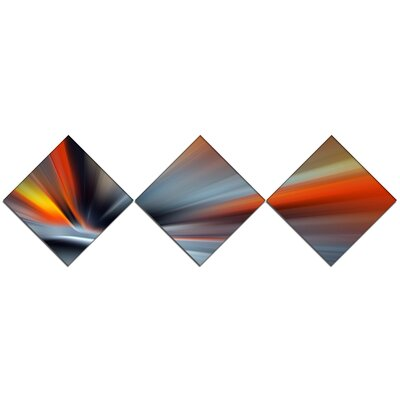 'Rays of Speed Large Lines' Graphic Art Print Multi-Piece Image on Canvas URBR1427 41312170