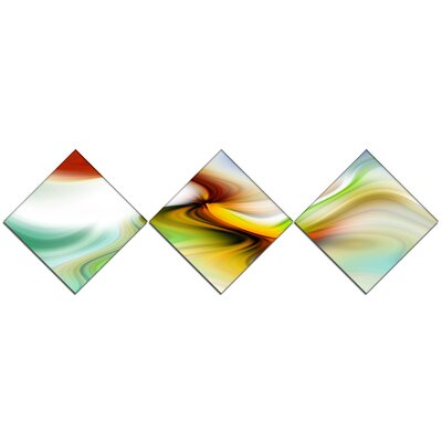 'Rays of Speed Curved' Graphic Art Print Multi-Piece Image on Canvas URBR1430 41312173