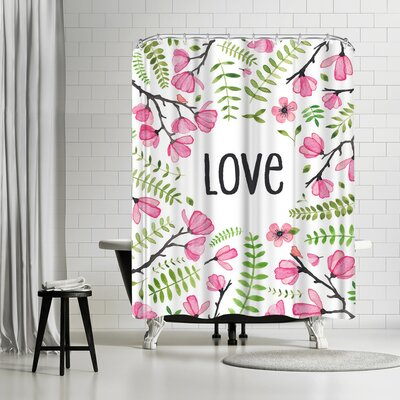 Elena Oneill Love Floral Shower Curtain