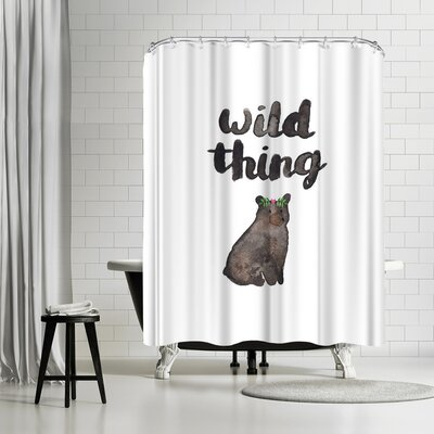Elena Oneill Wild Thing Bear Shower Curtain