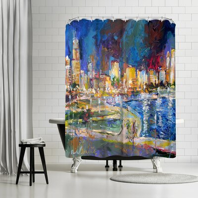 Richard Wallich Chicago Lights Shower Curtain