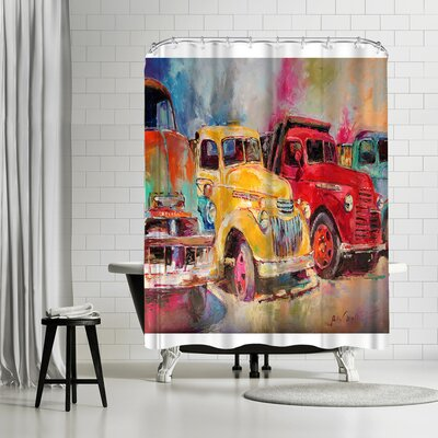 Richard Wallich Old Trucks Shower Curtain