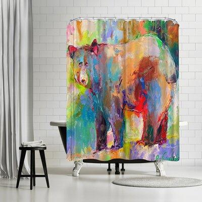 Richard Wallich Bear Shower Curtain