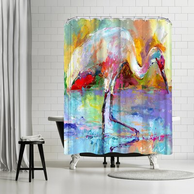 Richard Wallich Crane Shower Curtain