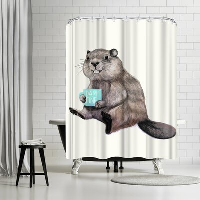 Laura Graves Damnfine Coffee Shower Curtain