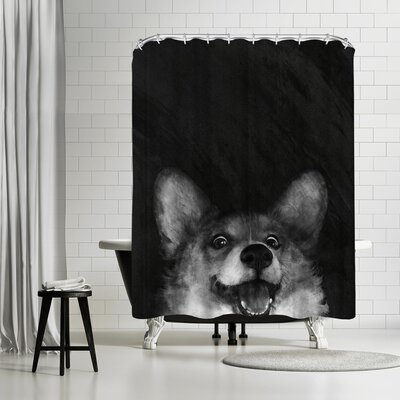Laura Graves Sausage Foxcorgi Shower Curtain