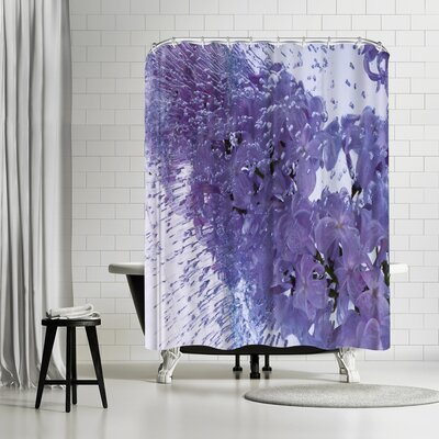 Zina Zinchik Floating Lilac Shower Curtain