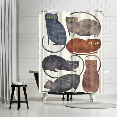 Tracie Andrews Cats Shower Curtain