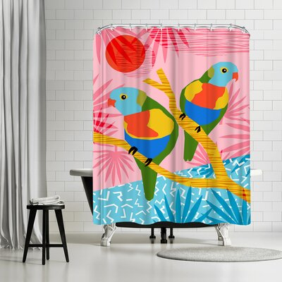 Wacka Designs Besties Shower Curtain