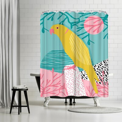 Wacka Designs Bird Brain Shower Curtain