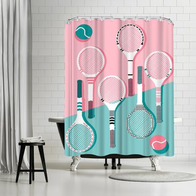 Wacka Designs Got Served Shower Curtain