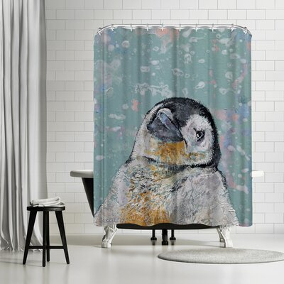Michael Creese Baby Penguin Snowflakes Shower Curtain