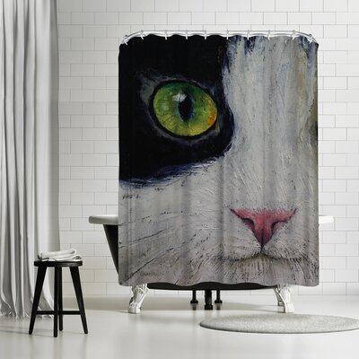 Michael Creese Japanese Bobtail Cat Shower Curtain