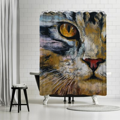 Michael Creese Maine Coon Cat Shower Curtain