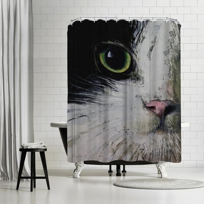 Michael Creese Tuxedo Cat Shower Curtain