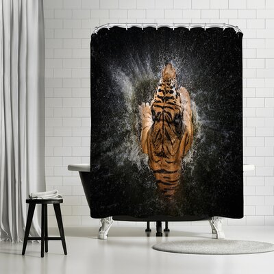 1x Tiger Splash Shower Curtain