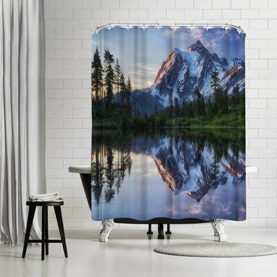 1x Sunrise on Mount Shuksan Shower Curtain