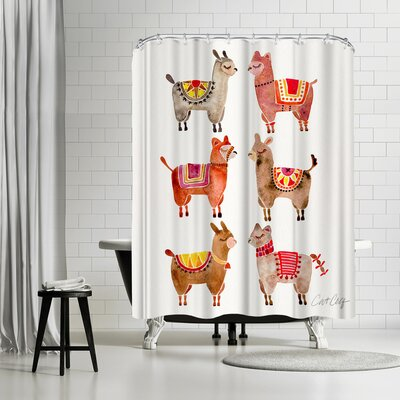 Cat Coquillette Alpacas Shower Curtain