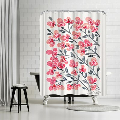 Cat Coquillette Cherry Blossoms Shower Curtain
