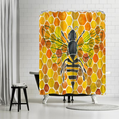Honey Bee Comb Shower Curtain