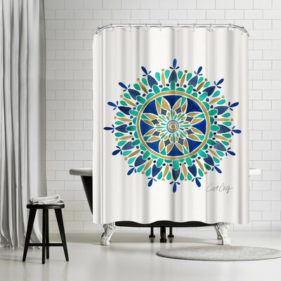 Cat Coquillette Mandala Shower Curtain