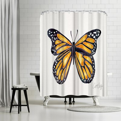 Cat Coquillette Monarch Shower Curtain
