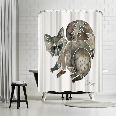 Cat Coquillette Raccoon Shower Curtain