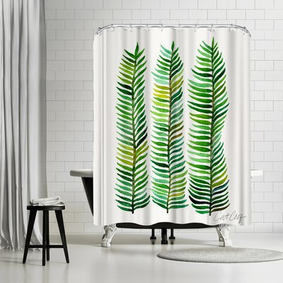 Cat Coquillette Seaweed Shower Curtain